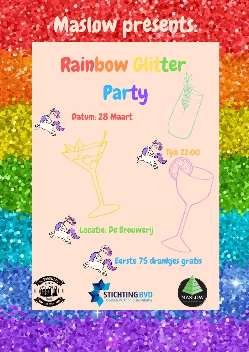 Borrel: Rainbow Glitter Party